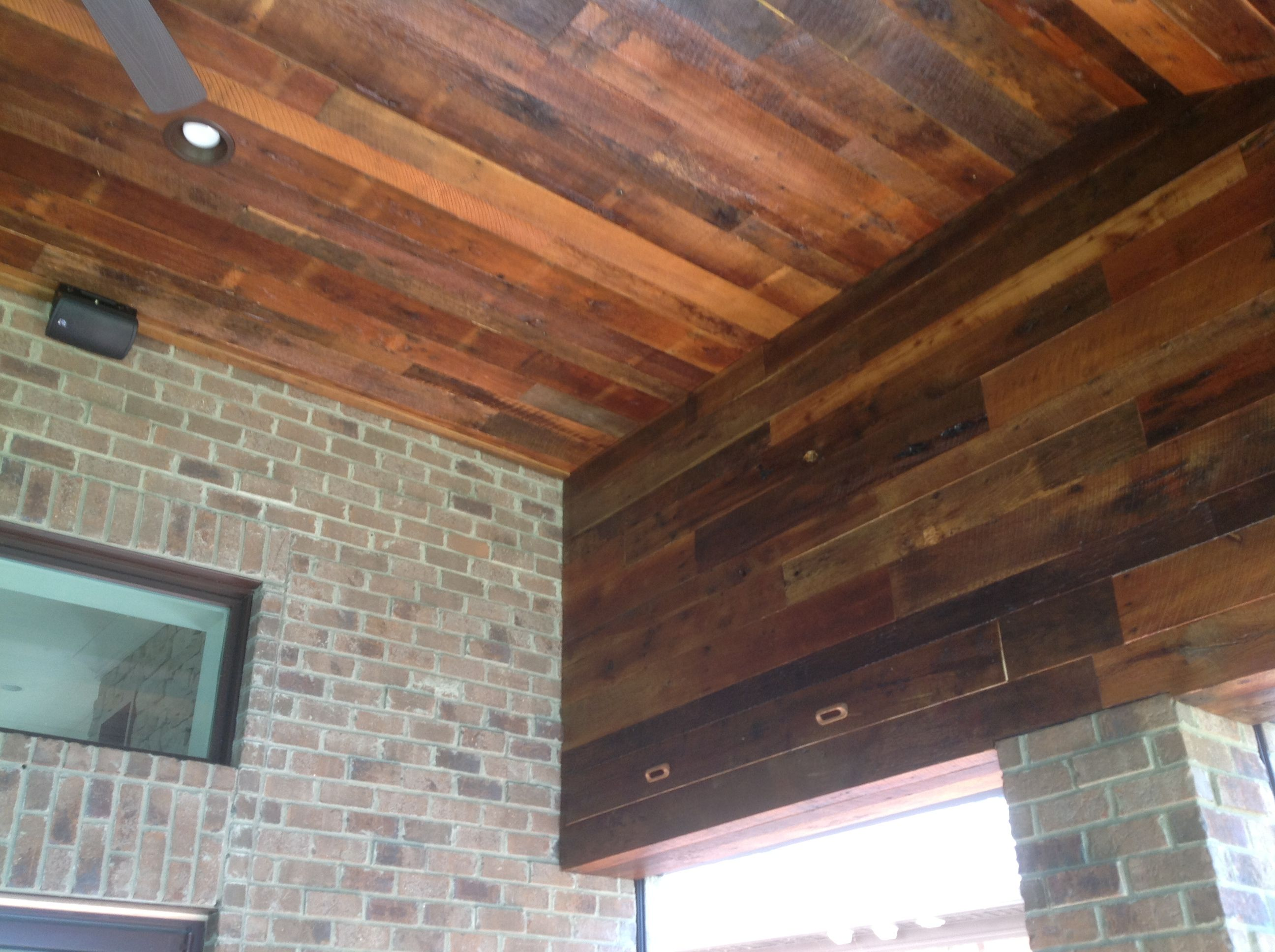 Reclaimed lumber skip planed oak ceiling reclaimedlumber for Reclaimed decking boards