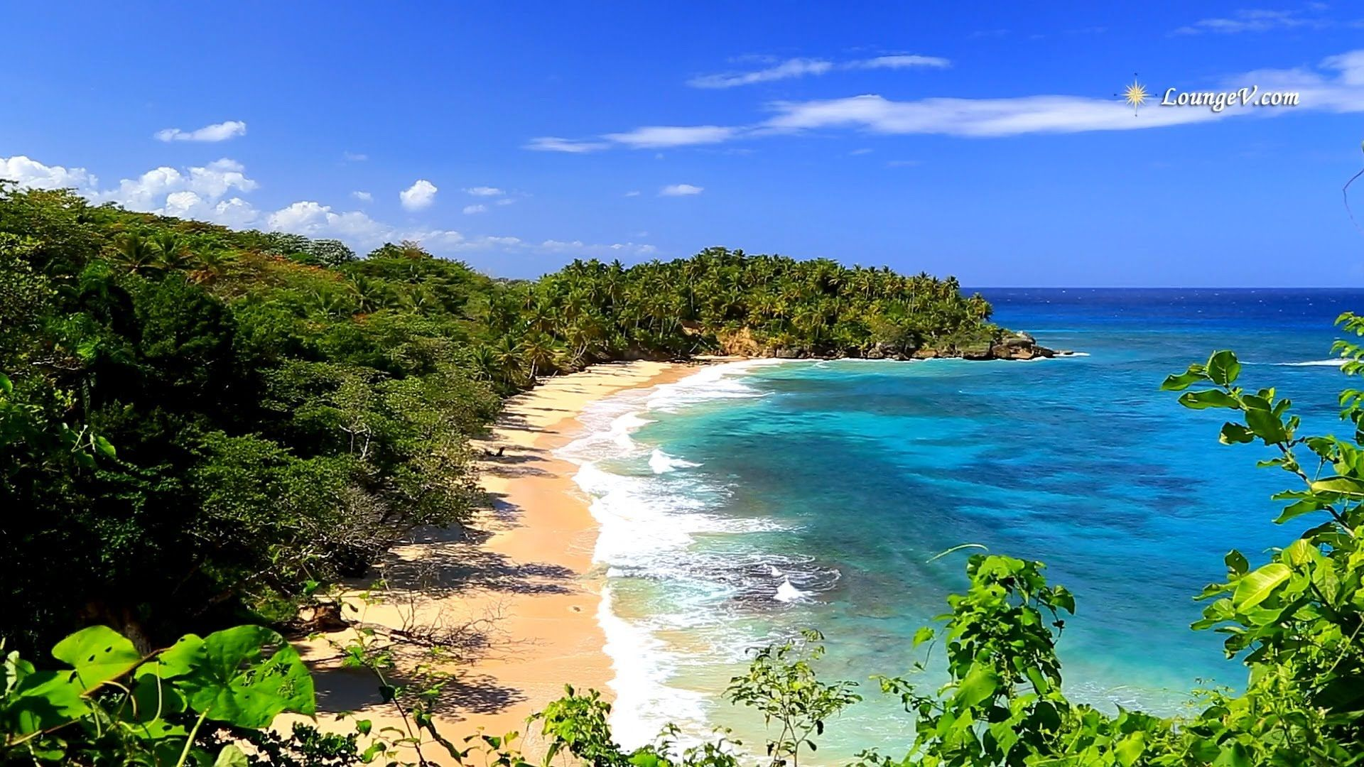 Tropical Island Beach Ambience Sound: Relaxing Music With Ocean Views, Meditation Music And