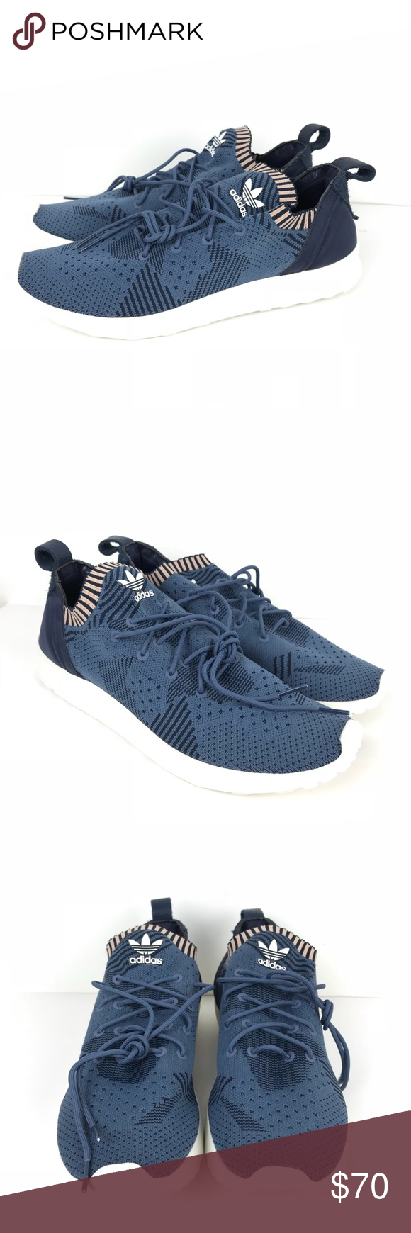 a8b71b0f5 Adidas ZX Flux Adv Virtue Pk Primeknit Womens Adidas ZX Flux Adv Virtue Pk  Primeknit Blue Womens Shoe box not included. Size 9.5 New without tags  adidas ...