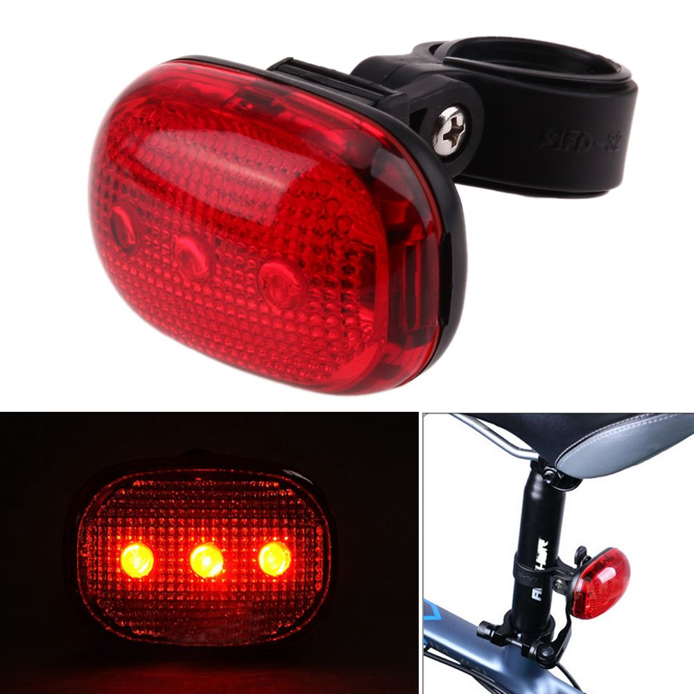 Waterproof Bike Bicycle Night Cylcing Safety Warning LED Tail Lights Lamps AAA