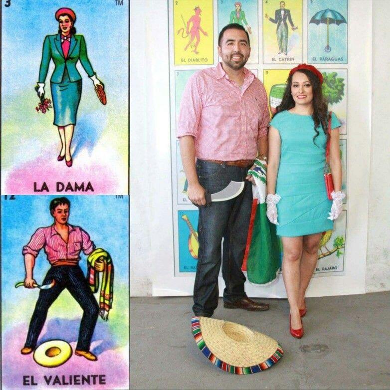 La Dama Y El Valiente Loteria Mexican Loteria Party
