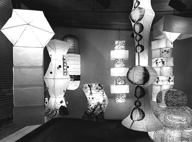 Tbt Exhibition Of Isamu Noguchi Akari Lamps Painted By Renowned