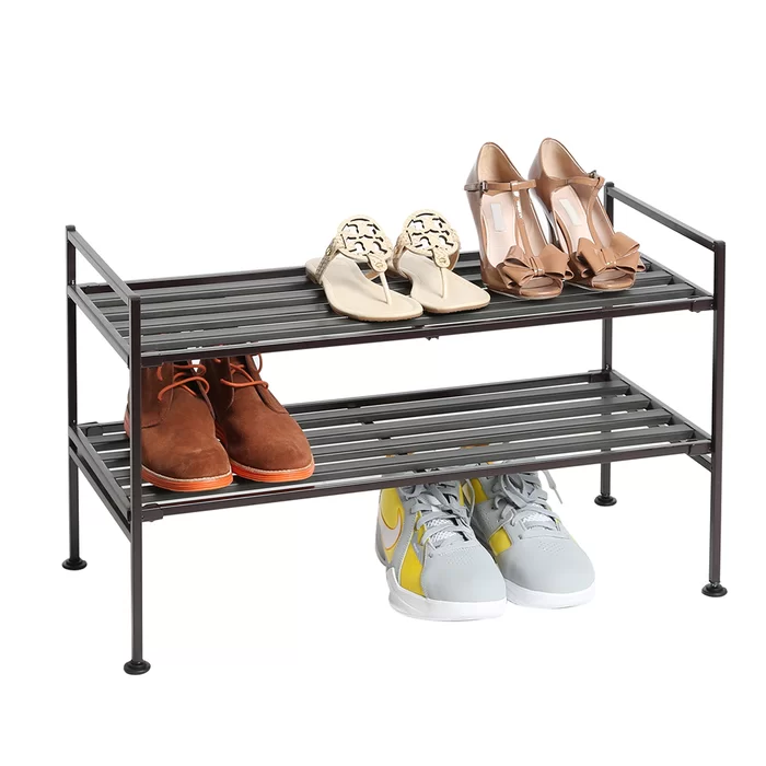940fa0bf4e87443018b196916b893f1c - Better Homes And Gardens 2 Tier Stackable Shoe Rack