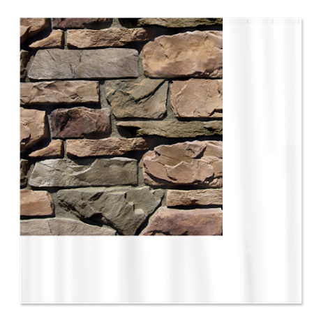 Stone Wall Shower Curtain By A Plus Products Cafepress Stone Wall Airstone Custom Shower Curtains