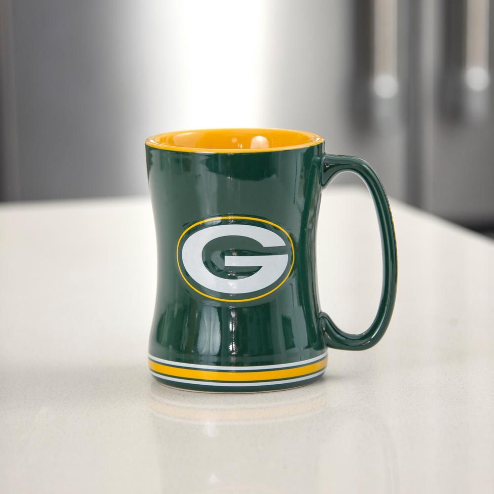 24 Oz Nfl Green Bay Packers Relief Sculpted Mug Set Of 2 225885 With Images Nfl Green Bay Mugs Set Mugs