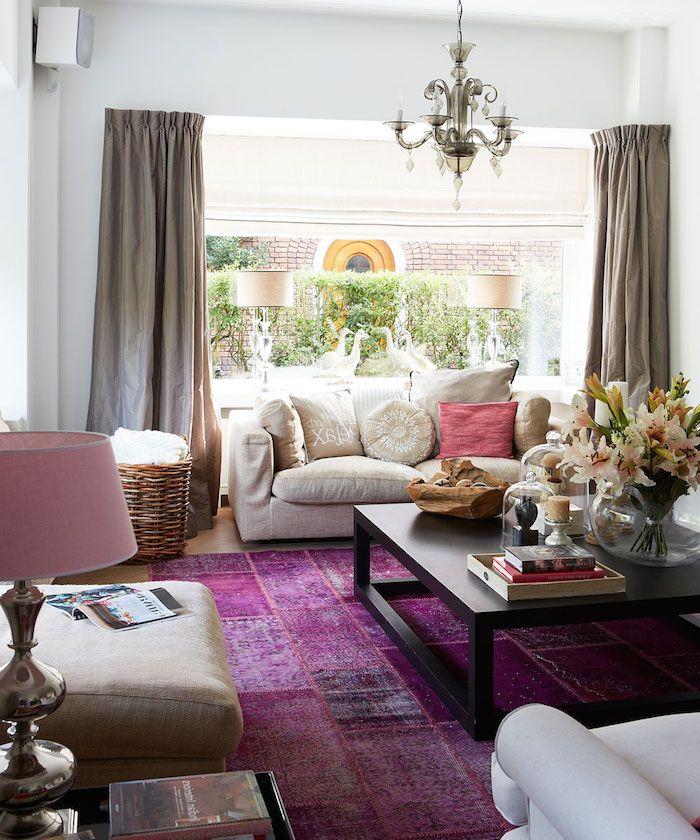 ▷ 1001 + Ideen und Bilder zum Thema Aubergine Farbe - wohnzimmer dekorieren schwarz
