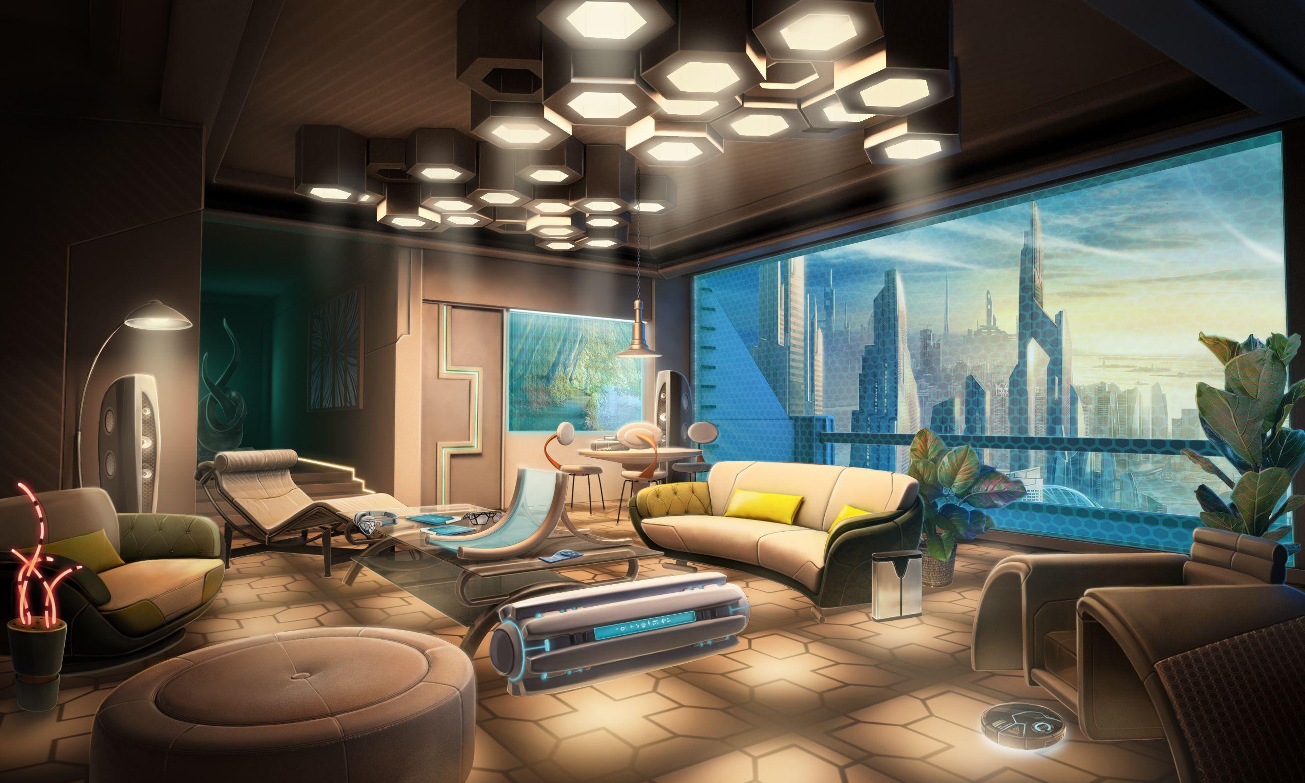 Condo Apartment Modern Furniture Livingroom Art Gameart