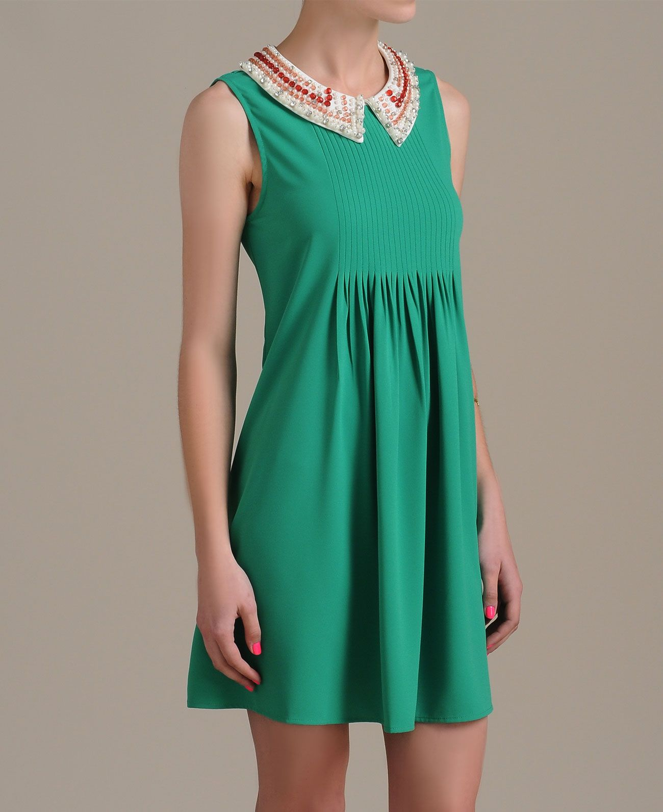 Gracia Beaded Collar Dress
