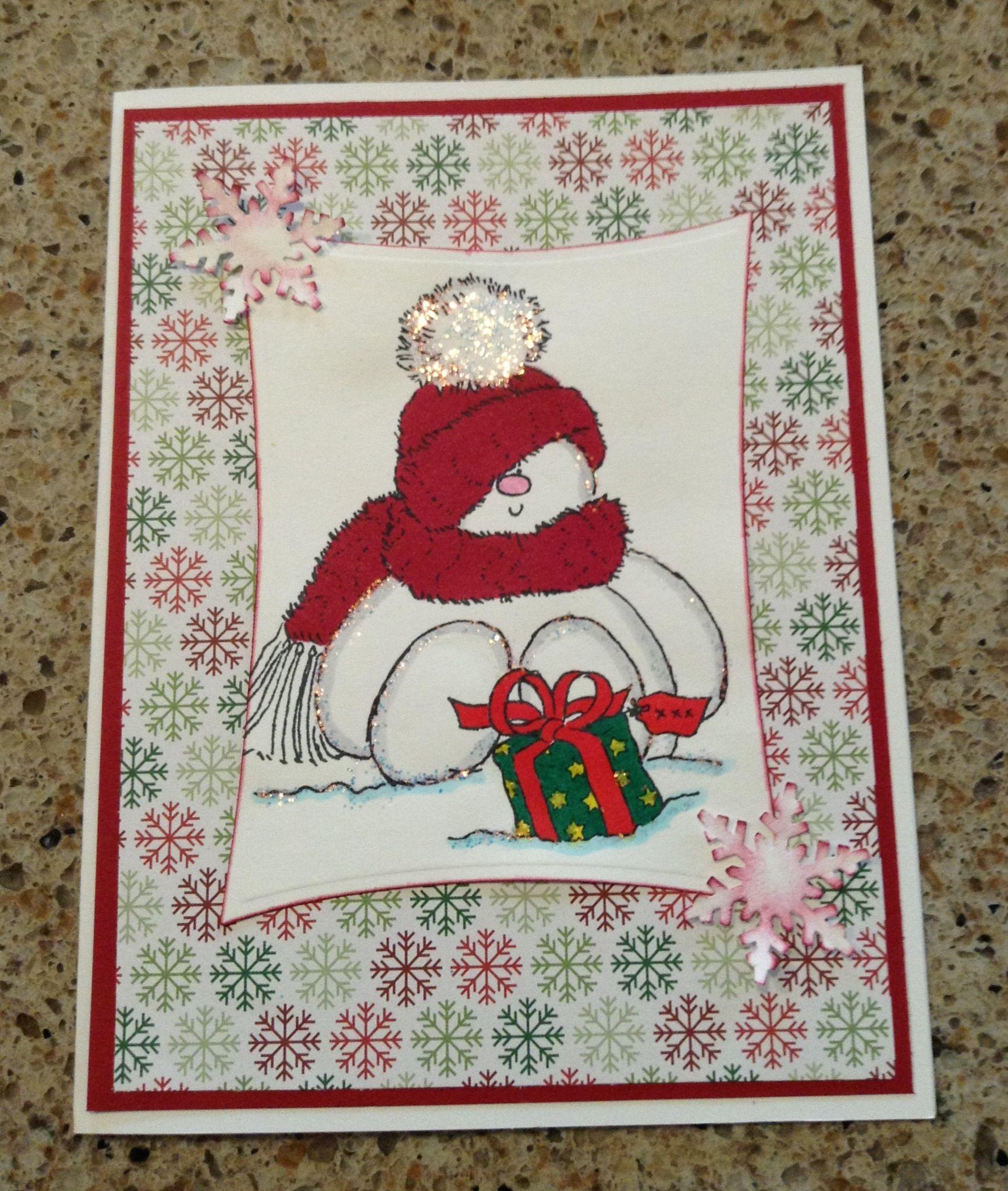 Penny Black Handmade Christmas Card
