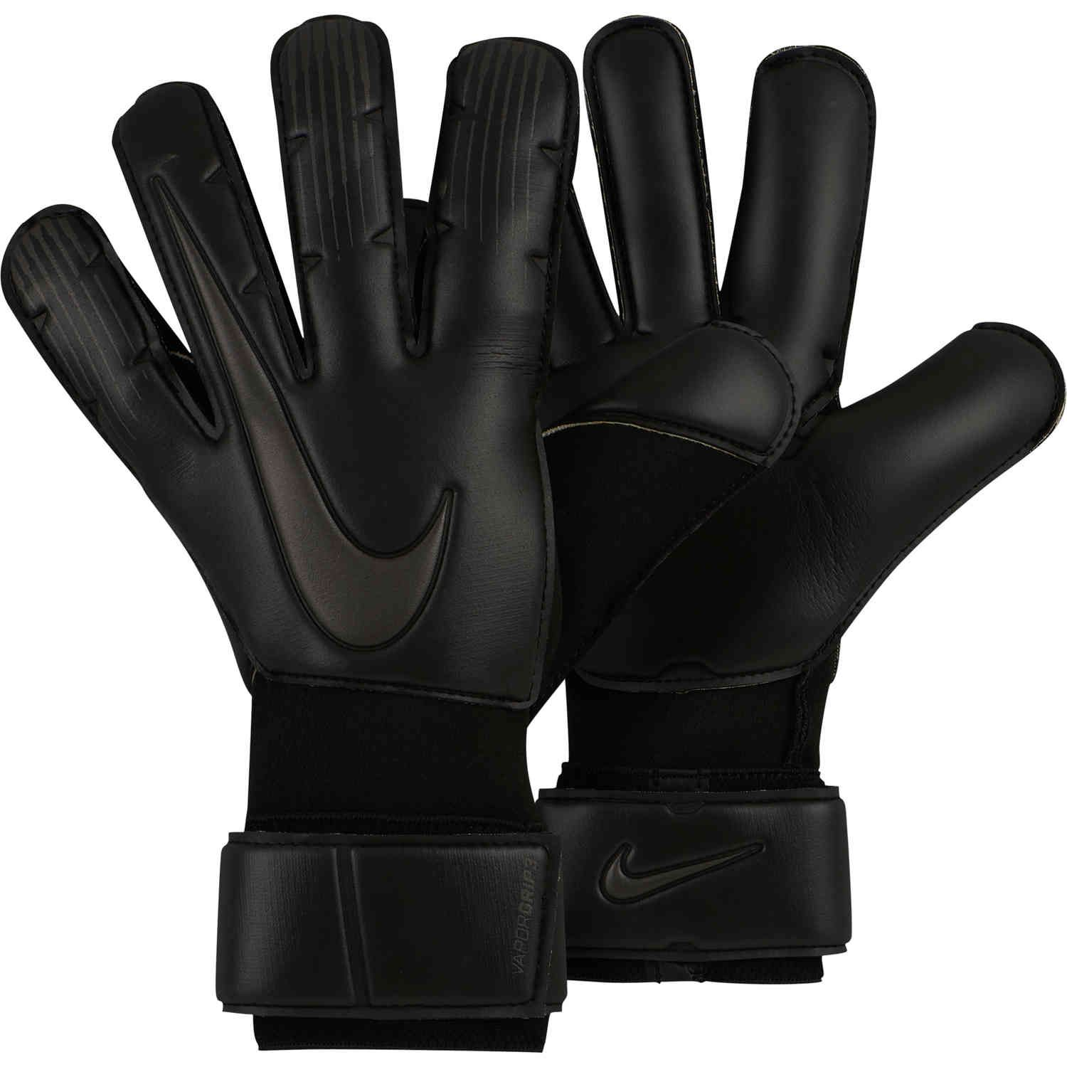 Nike Vapor Grip3 Goalkeeper Gloves Triple Black Goalkeeper Gloves Goalkeeper Gloves