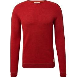 Photo of Tom Tailor men's finely structured sweater, red, solid color, size M Tom TailorTom Tailor