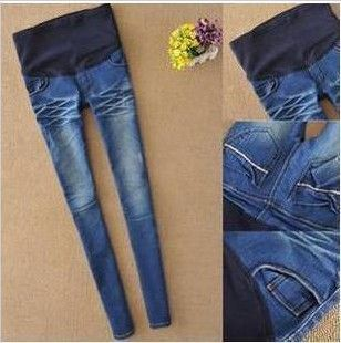 a5c867c4b Nuevos pantalones de maternidad elástico de cintura alta Leggings Jeans  pant para mujeres embarazadas barato ropa de moda sml XL XXL en Pantalones  y Capris ...