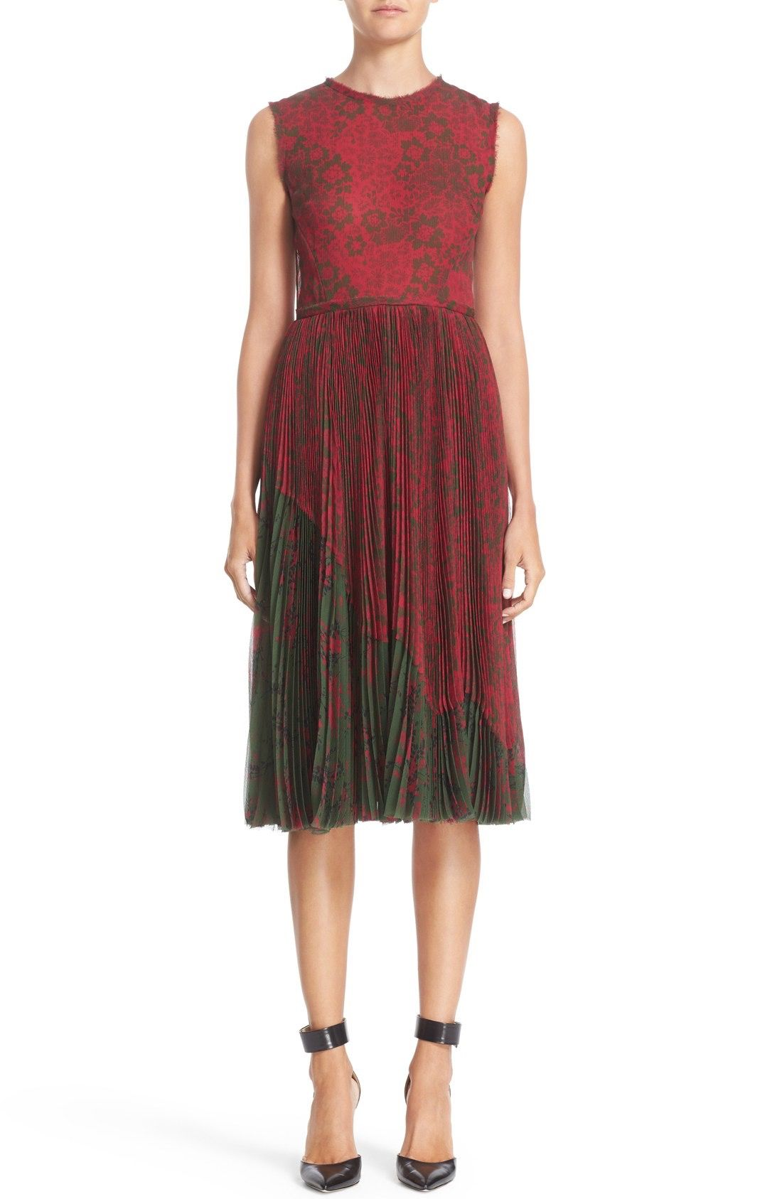 Jason Wu Floral Print Pleat Dress available at #Nordstrom