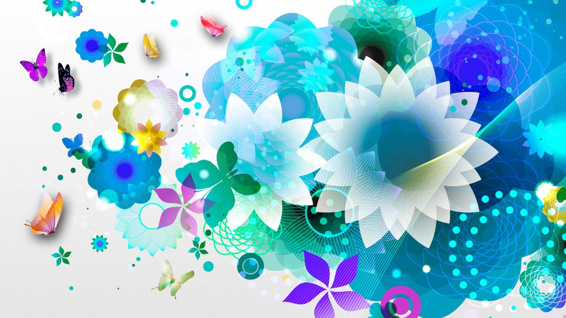 Hd Blue Flower Abstraction Wallpaper Download Free 83581 Portadas