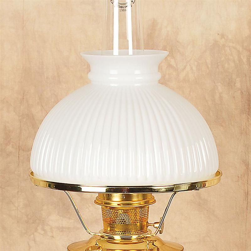 Glass Oil Lamp Shades : Aladdin green ribbed glass oil lamp shade lamps