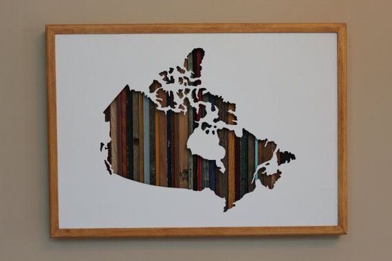 """Map of Canada - 24"""" by 17"""""""