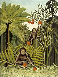 Two Monkies in the Jungle by Henri Rousseau 1909