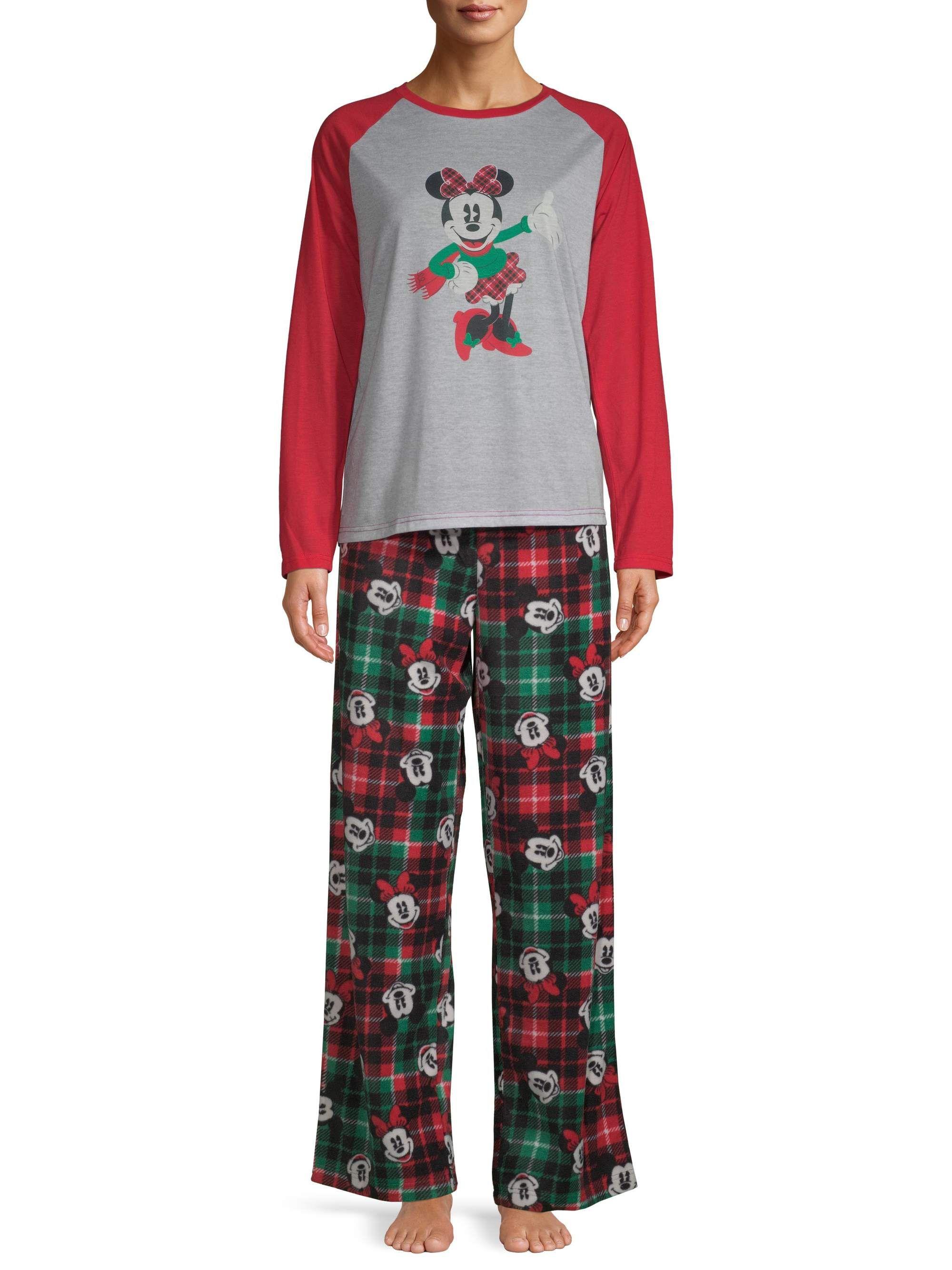 Disney Disney Matching Family Christmas Pajamas Women S And Women S Plus Size Walmart Com Pajamas Women Womens Christmas Pajamas Matching Family Christmas Pajamas