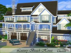 Luxury beach house is  huge family home built on  lot in windenburg found tsr category  sims residential lots also rh pinterest