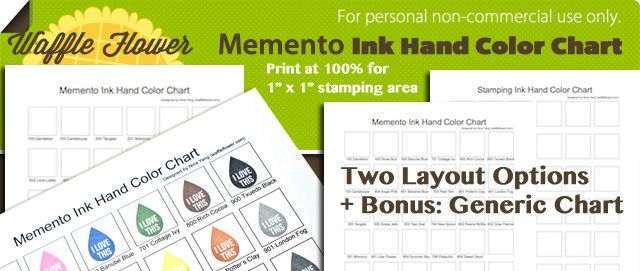 Free printable color chart template-Memento ink and generic - color chart template