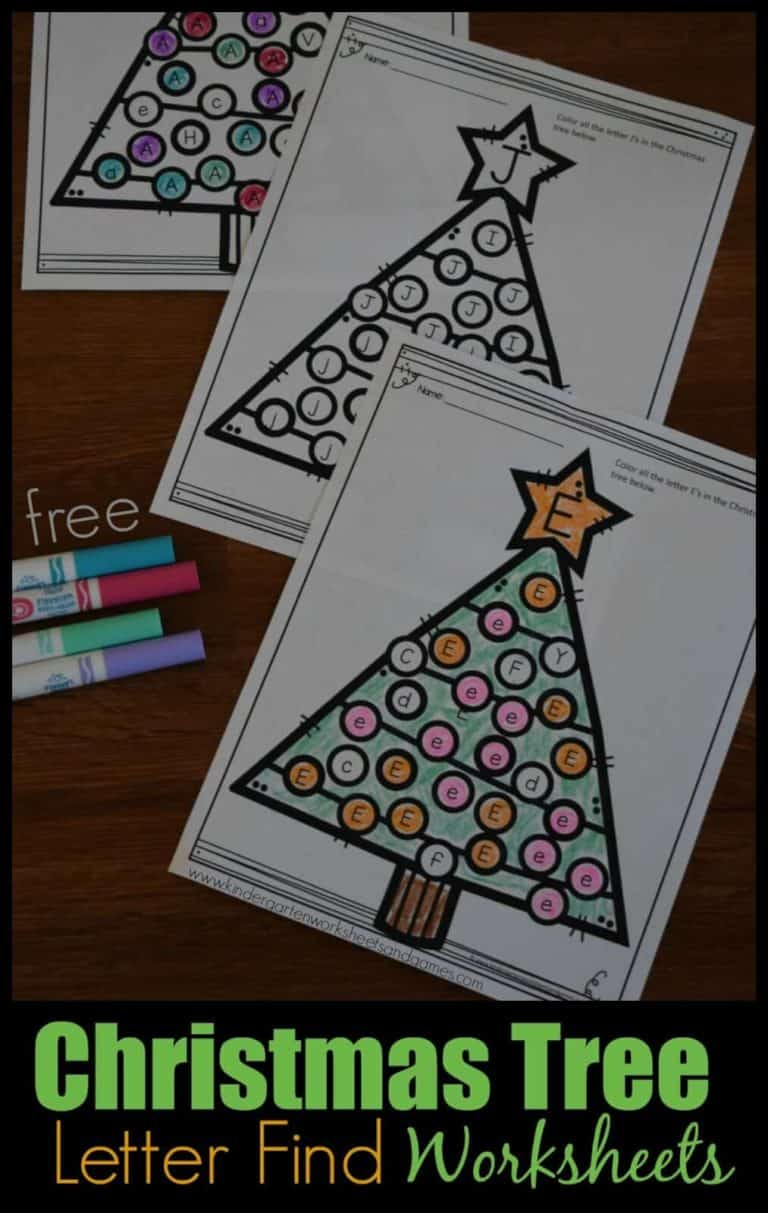 Free Christmas Tree Letter Find Worksheets Super Cute Christmas Learning Activ Christmas Kindergarten Christmas Learning Activities Christmas Math Worksheets [ 1213 x 768 Pixel ]