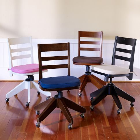 Swivel Desk Chair And Cushion   Pottery Barn Teen