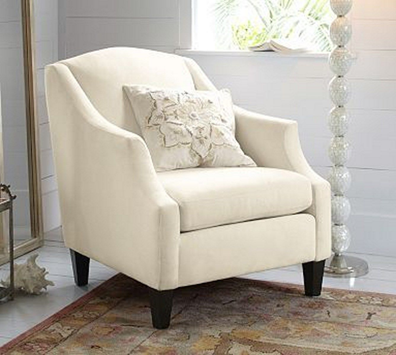 Bradshaw White Bedroom Armchair | White bedroom chair ...