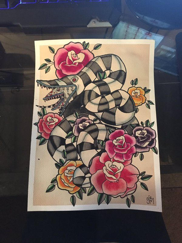 Pin By Taylor Stone On I N K Beetlejuice Tattoo Halloween Tattoos Tattoo Style Drawings