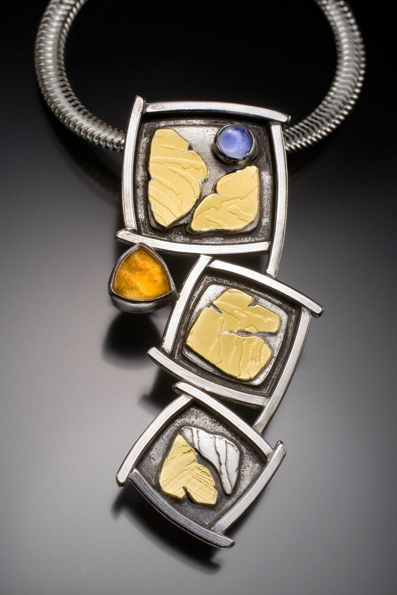 Donna jackson mcafee fragments pinpendant sterling 22k iolite jewelry by donna macafee aloadofball Images