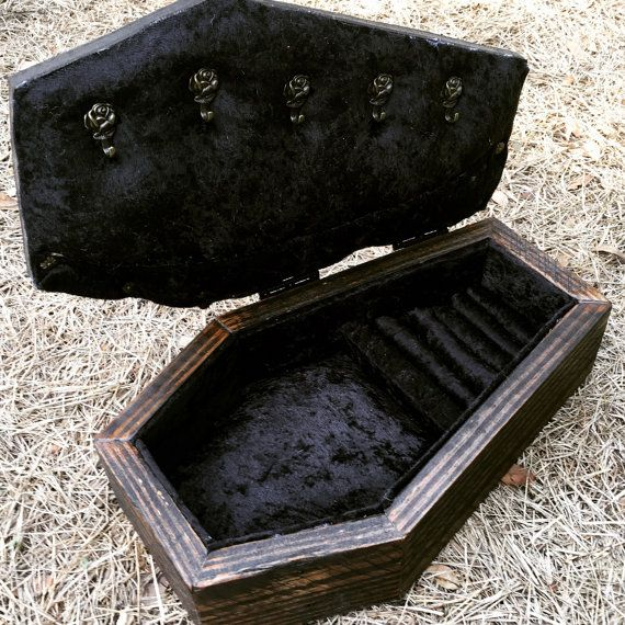 Coffin Jewelry Box Coffin Box Jewelry Box by LifeAfterDeathDesign