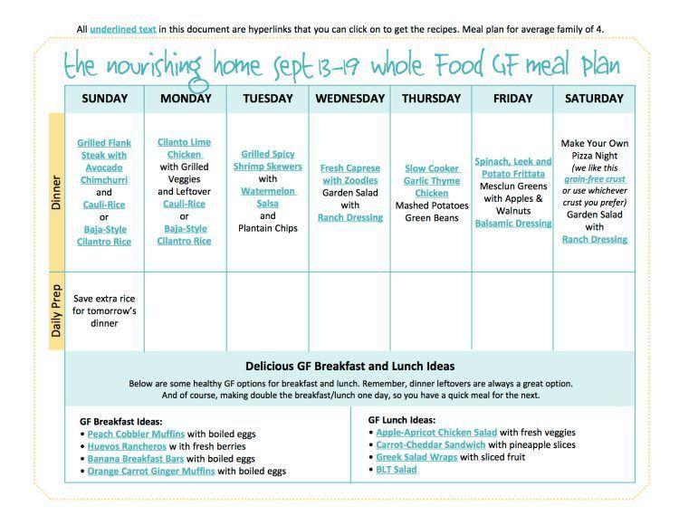 Bi-Weekly Whole Food Meal Plan September 13\u201326 \u2014 the Better Mom - bi weekly monthly budget spreadsheet