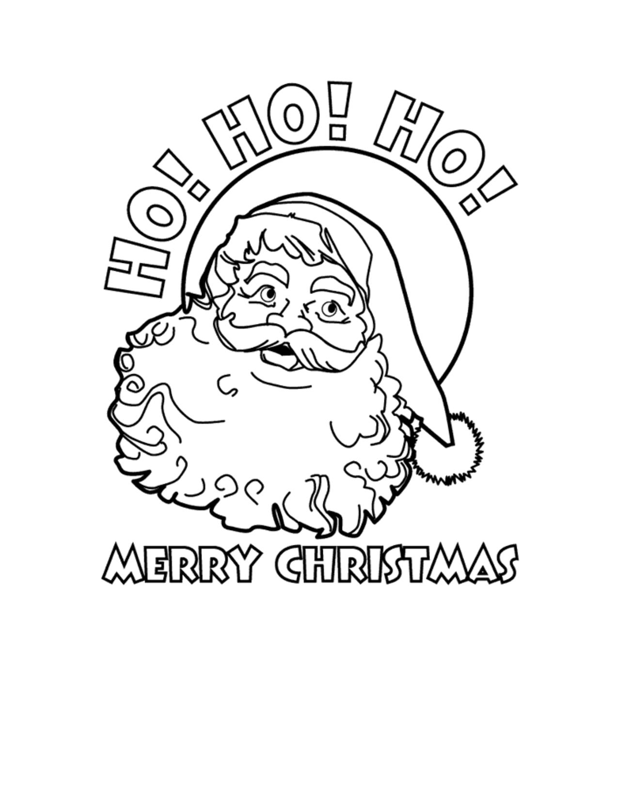 Ho Ho Ho Merry Christmas Santa Free Printable Coloring Sheet Free Printable Christmas Cards Printable Christmas Cards Printable Holiday Card