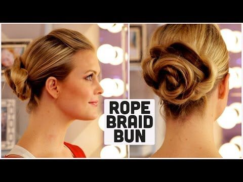 ▶ Rope Braid Bun!! - YouTube