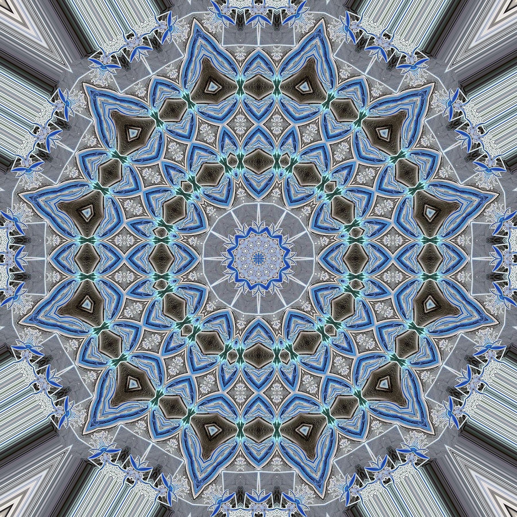 Blue Spade Mandala 3 by janclark.deviantart.com on @DeviantArt