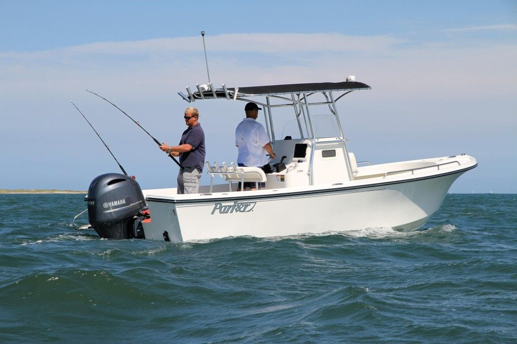 New Parker boat in custom white   loving the new boat colors