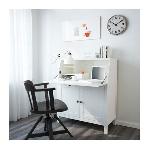 Hemnes White Stain Bureau 89x108 Cm Ikea Hemnes White Wood Desk Home Furnishings