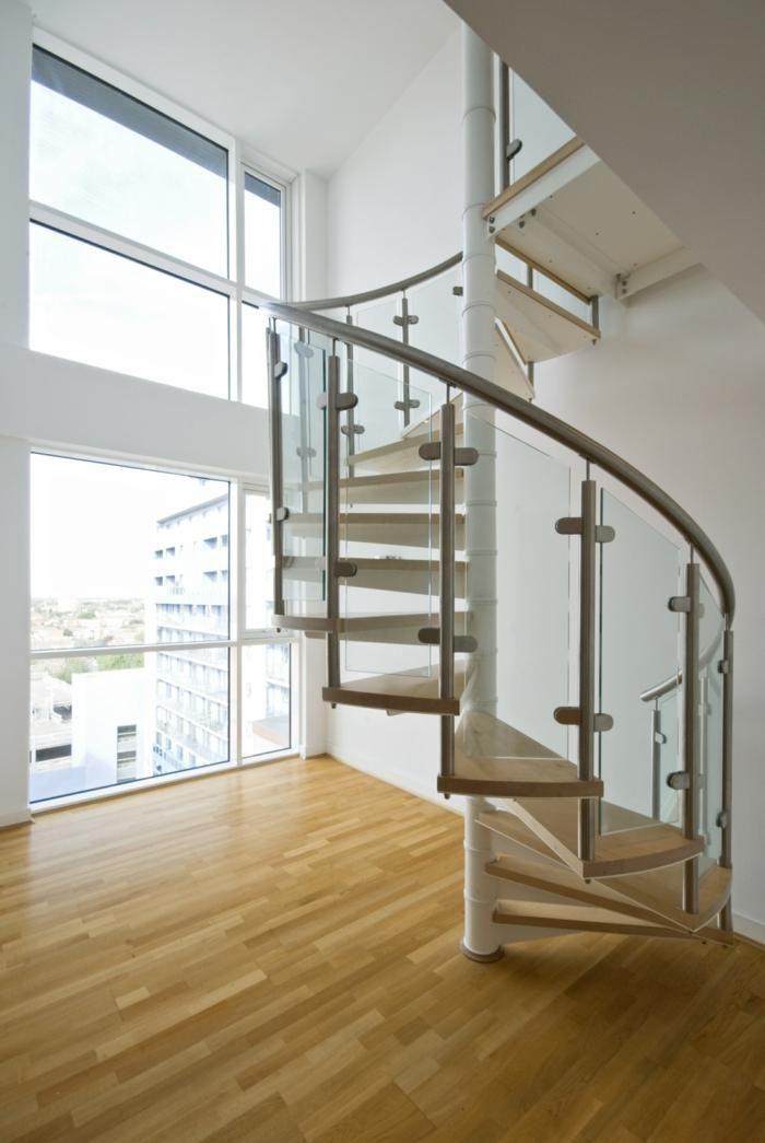 Geländer aus Glas und anderen Materialien, 50 Traumtreppen Haus - terrassen gelander design