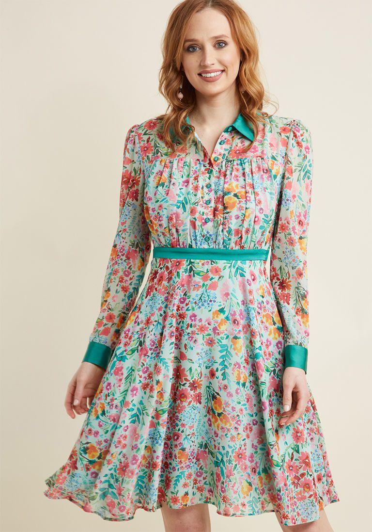 Long Sleeve Chiffon Shirt Dress In Mint Fashion Inspo Shirt