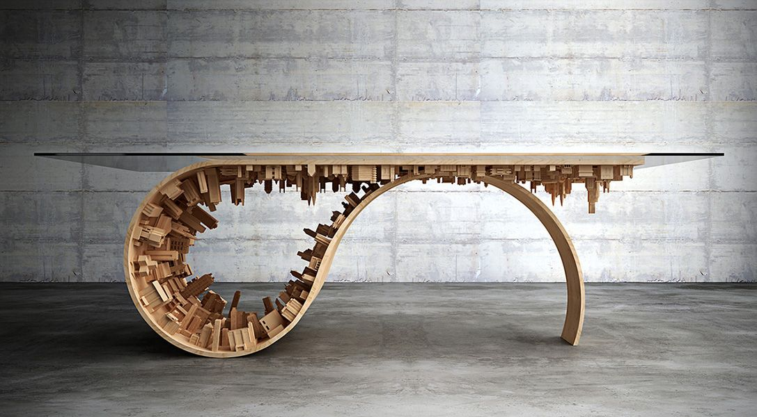 Inception Inspired Dining Room Table  Movie Swag  Pinterest Custom City Furniture Dining Room Design Inspiration
