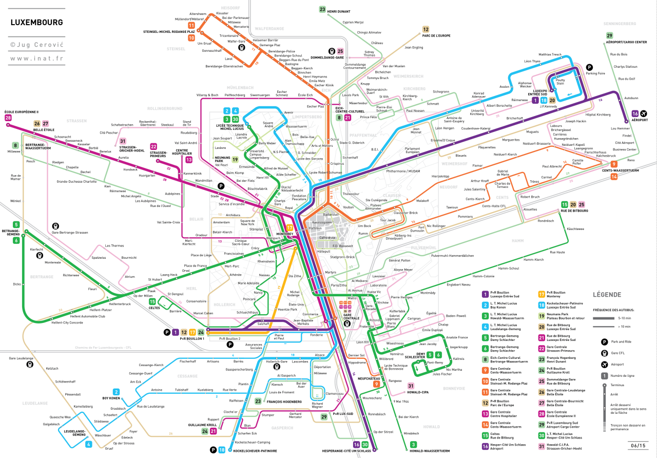 Submission Unofficial Map Bus Routes of Luxembourg City by Jug