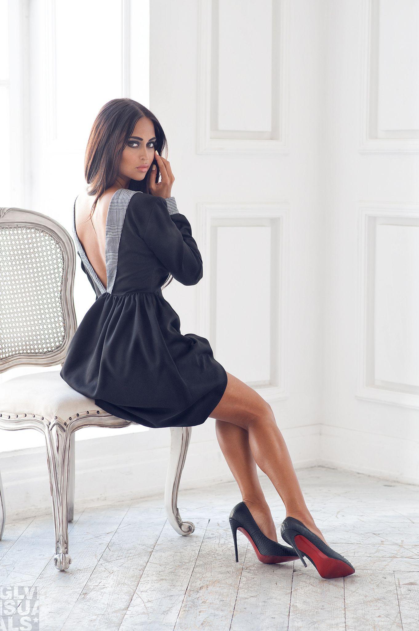 Famous fashion blogger - Nita Kuzmina The Famous Russian Blogger In A Dress Made By Designer Pavlova Alexandra