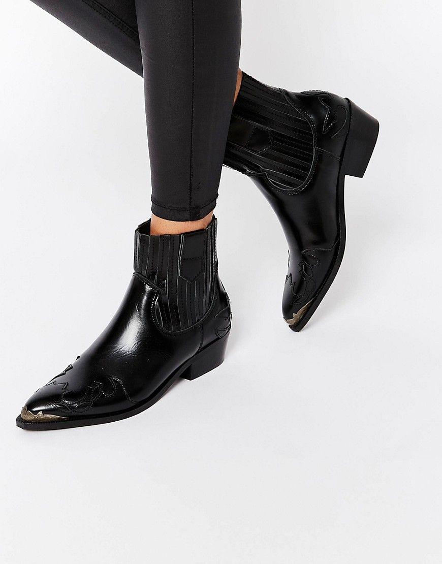 Mango Premium Steel Cap Western Ankle Boot