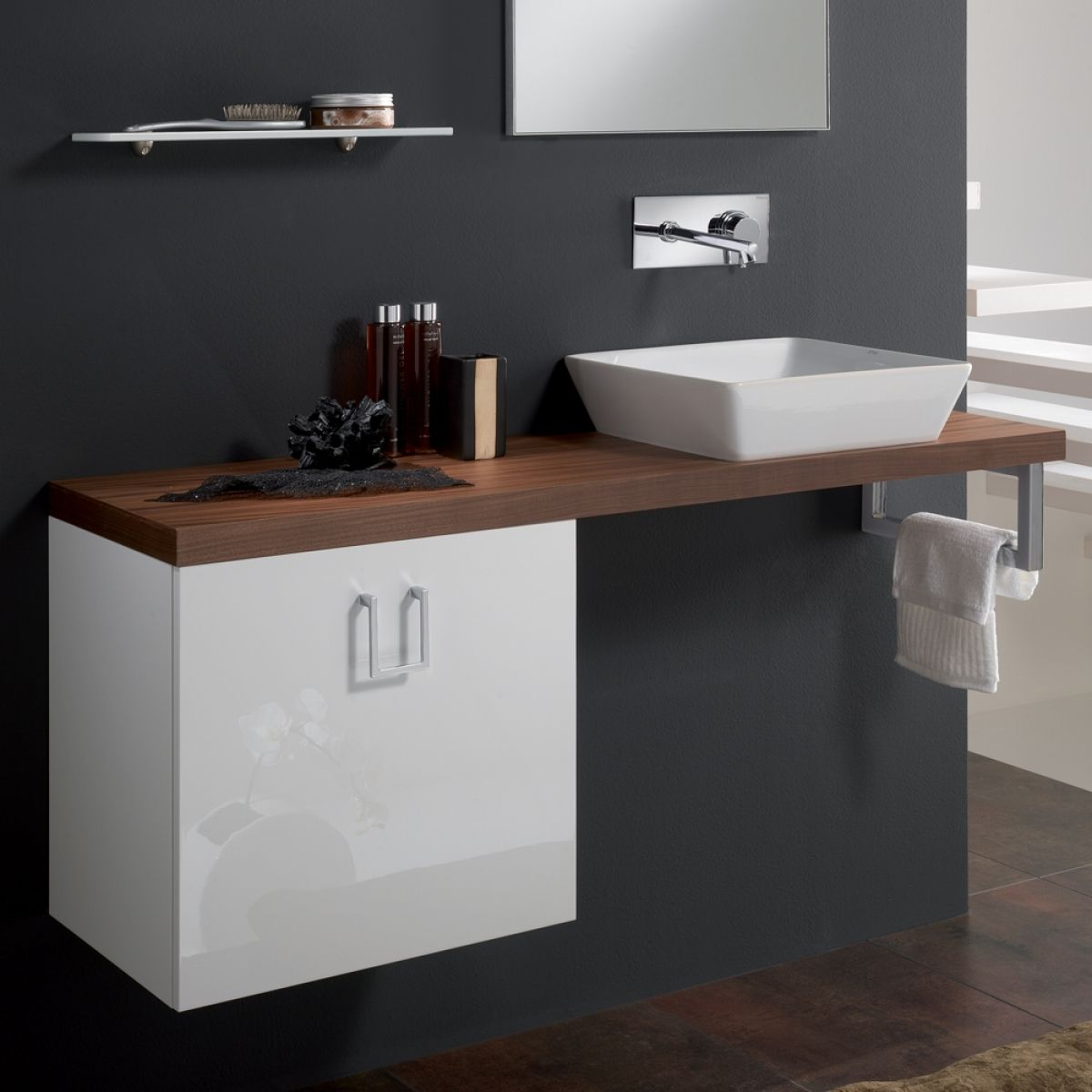 Veneered Walnut High End Bathroom Sink Vanity Stand Intended For Bathroom Cabinet For Sink Luxury Bathroom Vanities Vanity Sink Bathroom Sink Vanity