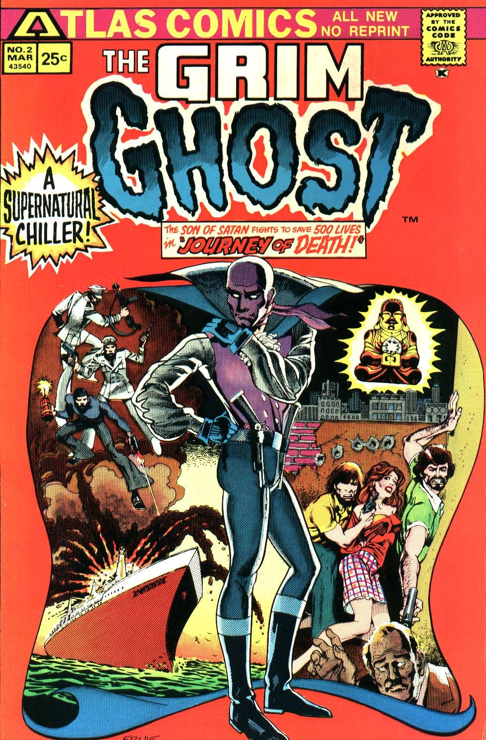 The Grim Ghost # 2, March 1975, Pencils:Ernie Colon