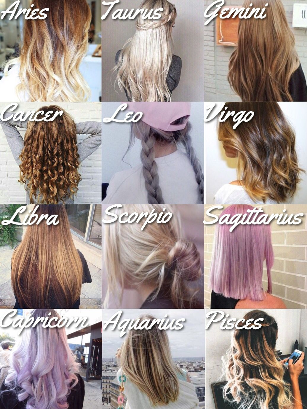 12 Zodiac Signs Hair Styles Cancer Zodiac Sign Astrology