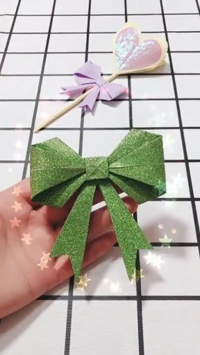 Handmade origami bow making video tutorial