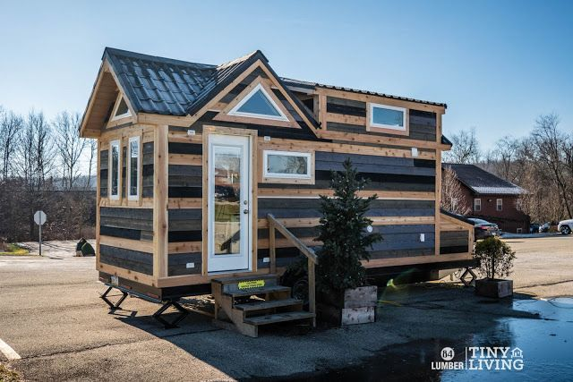 From 84 Lumber The Countryside Is 203 Sq Ft And You Can Purchase The Home Turnkey Ready For 79 884 There S House Layouts Tiny House Design Tiny House Kits