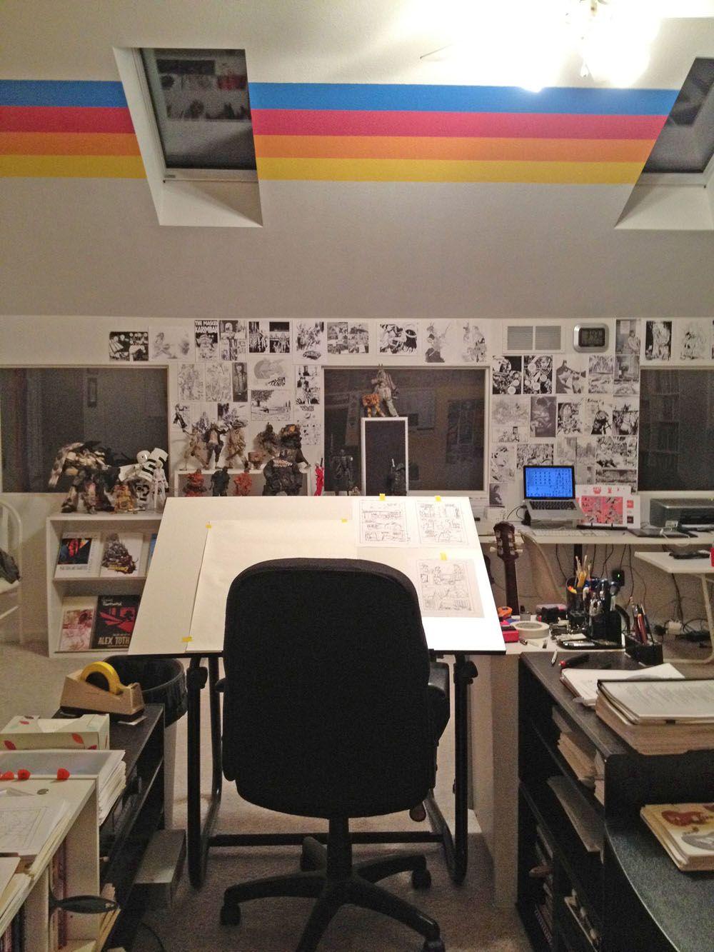 comic artist studio Google Search Artist workspace