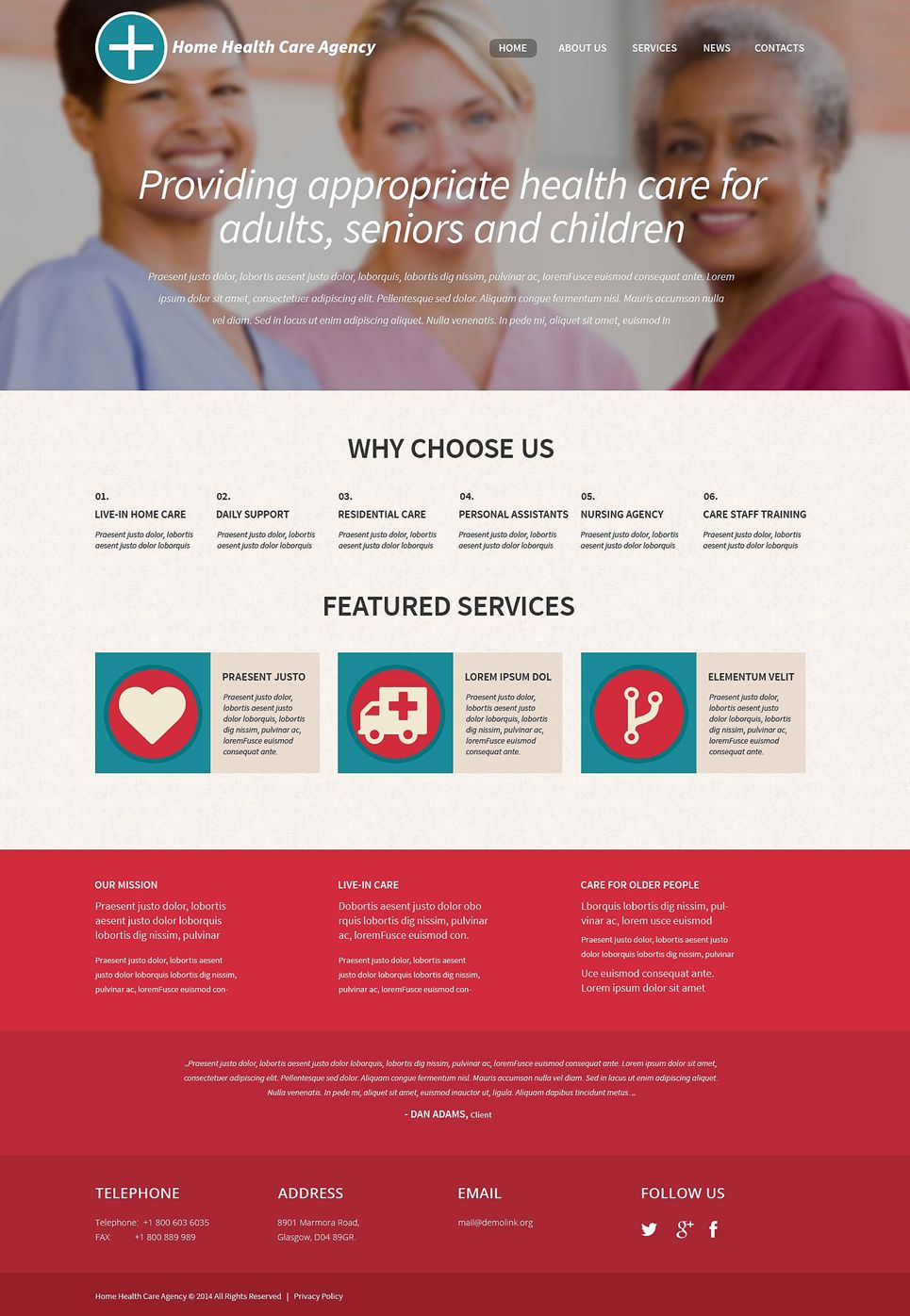 Healthcare professionals wordpress theme templatemonster