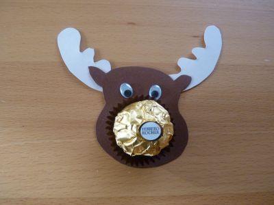 Elch mit Süßigkeiten-Nase                                                                                                                                                                                 Mehr #cuteideas